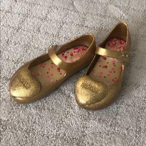Mini Melissa gold shoe size 10